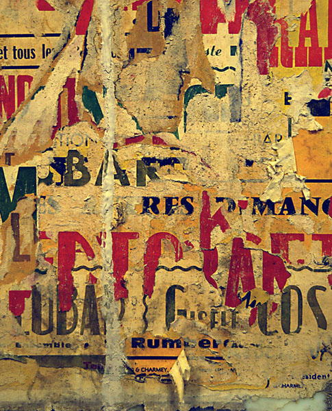 Pentimento: The Champs Elysees Clemenceau Metro Wall